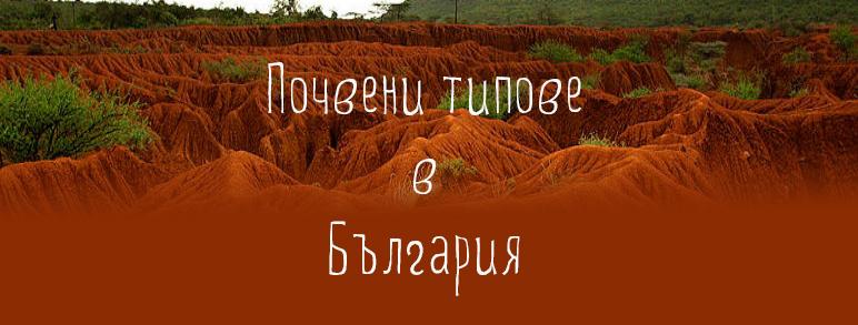 Agrohimichni Svojstva Na Glavnite Pochveni Tipove V Blgariya