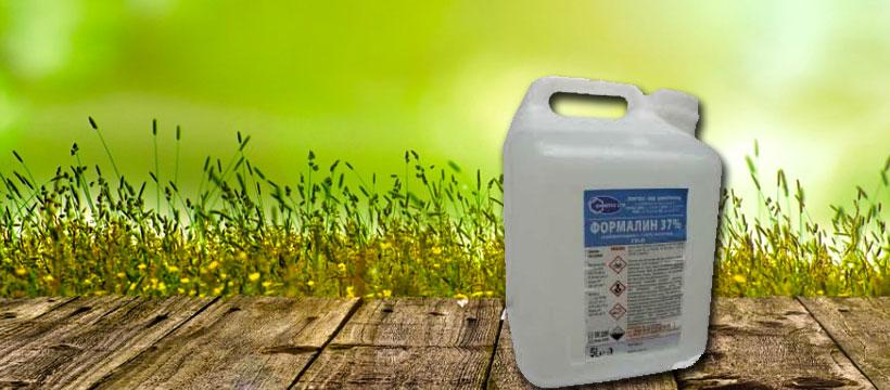 Формалин за обеззаразяване на почвата и обработка на семената